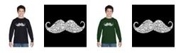 LA Pop Art Boy's Word Art Long Sleeve T-Shirt - Ways To Style A Moustache