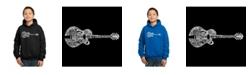 LA Pop Art Boy's Word Art Hoodies - Country Guitar