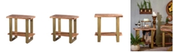 Villa2 VILLA 2 Artisan Live Edge Acasia Wood 2 Shelf Side Console Table