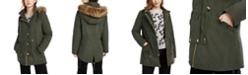 Celebrity Pink Juniors' Faux-Fur Trim Hooded Parka Coat