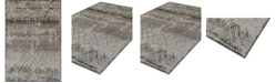"""D Style CLOSEOUT! Logan Lo8 Pewter 9'6"""" x 13'2"""" Area Rugs"""