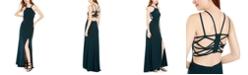 Morgan & Company Juniors' Ladder-Back Halter Gown