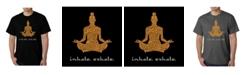 LA Pop Art Men's Word Art T-Shirt - Inhale Exhale