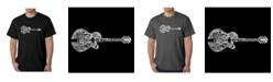 LA Pop Art Men's Word Art T-Shirt - Country Guitar