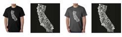 LA Pop Art Men's Word Art T-Shirt - California State