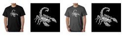 LA Pop Art Men's Word Art T-Shirt - Types of Scorpions