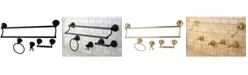 Kingston Brass Restoration 4-Pc. Dual Towel Bar Bathroom Hardware Set