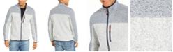 Club Room Men's Regular-Fit Colorblocked Full-Zip Fleece Sweater, Created For Macy's