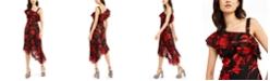 Rachel Zoe Antonia Printed One-Shoulder Dress