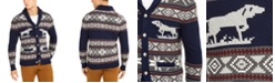 Club Room Men's Regular-Fit Pointing Dog Geometric Cardigan, Created For Macy's