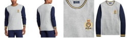 Polo Ralph Lauren Men's Tall Embroidered Waffle Crewneck Sleep Shirt, Created for Macy's