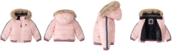 Tommy Hilfiger Baby Girls Hooded Puffer Jacket With Faux-Fur Trim