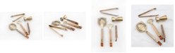 Thirstystone 4-Piece Antique Gold, Leather and Wood Bar Tool Set