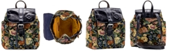 Patricia Nash Woven Floral Tapestry Aberdeen Backpack