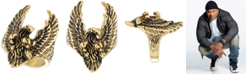 LEGACY for MEN by Simone I. Smith Yellow & Black Ion-Plated Eagle Ring in Stainless Steel