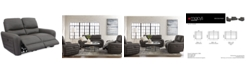 """Furniture CLOSEOUT! Brooklynner 62"""" Fabric Power Motion Loveseat"""