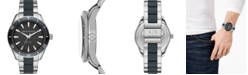 A|X Armani Exchange Men's Enzo Stainless Steel & Blue Silicone Bracelet Watch 46mm