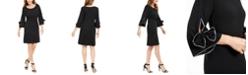 Robbie Bee Petite Bow-Sleeve Shift Dress