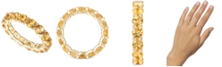 Macy's Citrine Eternity Band (2-5/8 ct. t.w.) in 14k Gold-Plated Sterling Silver