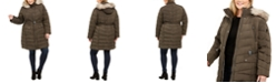 Vince Camuto Plus Size Faux-Fur-Trim Hooded Down Puffer Coat, Created for Macy's