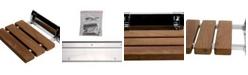 "ALFI brand Polished Chrome 14"" Folding Teak Wood Shower Seat Bench"