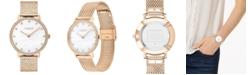 COACH Women's Audrey Carnation Gold-Tone Stainless Steel Mesh Bracelet Watch 35mm