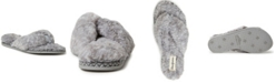Dearfoams Women's Marie Furry Thong Slipper
