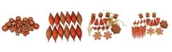 Northlight 125ct Burnt Orange Shatterproof 4-Finish Christmas Ornaments