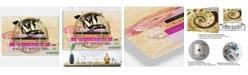 "Designart Fashionista Reads 2 Oversized Fashion 3 Panels Wall Clock - 38"" x 38"" x 1"""
