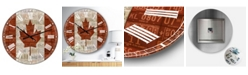 "Designart Canada License Plate Flag Oversized Traditional Wall Clock - 36"" x 28"" x 1"""
