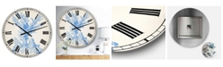 "Designart Blue Coral 1 Oversized Nautical & Coastal Wall Clock - 36"" x 28"" x 1"""