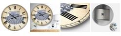 "Designart Blue Sea 3 Oversized Nautical & Coastal Wall Clock - 36"" x 28"" x 1"""