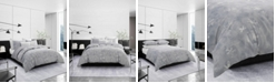 Vera Wang Ghost Flower Queen Duvet Cover Set