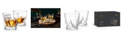 JoyJolt Atlas Old Fashioned Whiskey Glasses Set of 2