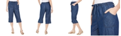 Karen Scott Petite Cotton Denim Capri Pants, Created For Macy's