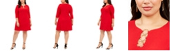 MSK Plus Size Three-Ring Dress