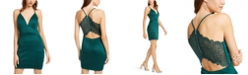 Emerald Sundae Juniors' Lace-Racerback Bandage Dress