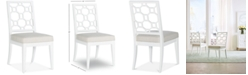 Furniture Chelsea Lattice Back Side Chair