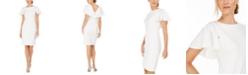 Calvin Klein Petite Capelet Sheath Dress