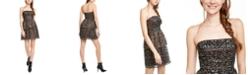 Aidan by Aidan Mattox Strapless Sequined Fit & Flare Dress