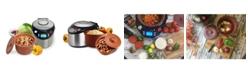 VitaClay Smart Organic Digital Express - A Rice Slow Cooker, A Digital Steamer and A Yogurt Maker, 3.2 QT