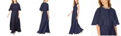 Calvin Klein 2-Pc. Rhinestone Chiffon Capelet Gown