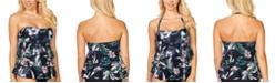 Island Escape San Joaquin Floral Printed Tiered Tankini, Created For Macy's