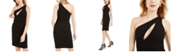 bebe One-Shoulder Cutout Bodycon Dress
