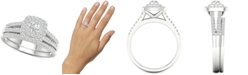 Macy's Diamond Halo Bridal Set (3/4 ct. t.w.) in 14k White Gold