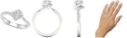 Macy's Diamond Princess Twist Engagement Ring (3/4 ct. t.w.) in 14k White Gold