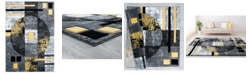 "Asbury Looms Bristol Epsilon 2050 10112 69 Yellow 5'3"" x 7'6"" Area Rug"