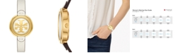 Tory Burch Women's The Miller Ivory Leather Strap Watch 36mm