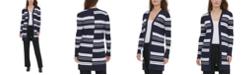Calvin Klein Striped Open Cardigan