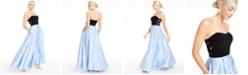 Blondie Nites Juniors' Strapless Crisscross-Side Gown